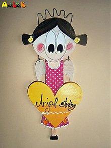 Dekorácie - Anjel dievčatko - 2335635