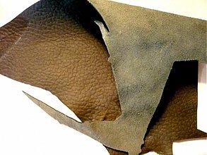 Suroviny - Kůže 1 mm - černá, 100 g - 2337502