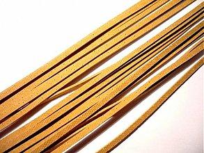 Suroviny - Kožený řemínek 2 mm, 110 cm - béžový - 2337611