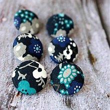 Materiál ručne robený - Frozen flowers 19 mm buttonky / poťahované gombíky - 2339602