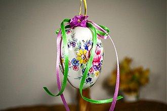 Dekorácie - Veľkonočné vajíčko - rozkvitnutá kytica - 2340267