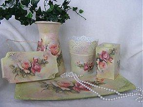 Nádoby - Romantické ružičky /dekoračný tanier... - 2340536