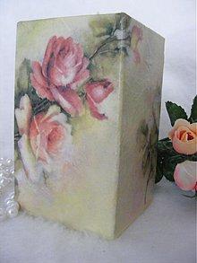 Svietidlá a sviečky - Romantické ružičky /svietnik... - 2340705