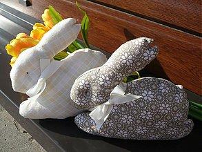 Dekorácie - Veľkonoční zajkovia - sada - 2343726