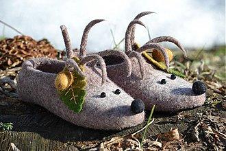 Obuv - Plstené papučky ježkovia - 2354847