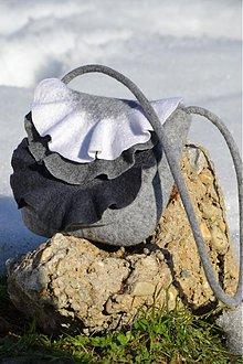 Kabelky - Plstená ozdobná kabelka - 2354935