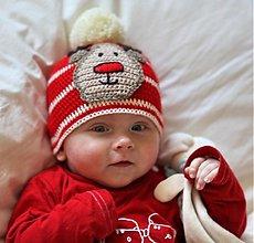 Detské čiapky - sobíková čiapka - 2354956
