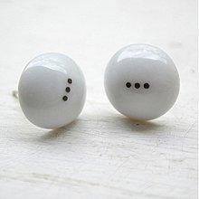 Náušnice - Napichovacie náušnice / Pecky Black & White - 2356282