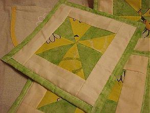 Úžitkový textil - Zelená chňapka - 2356342