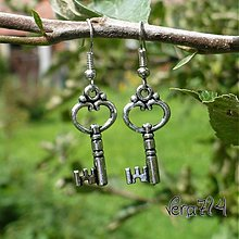 Náušnice - Kľúč k môjmu srdcu... - 2359206