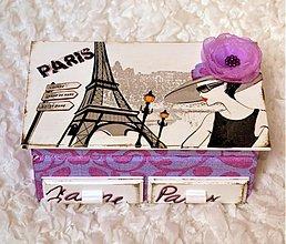 Krabičky - Madamme paris lila - 2360201