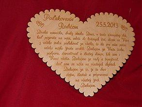 Darčeky pre svadobčanov - Poďakovanie rodičom srdiečko 4 - 2361564