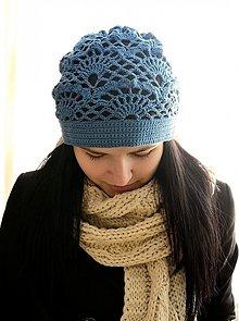 Čiapky - Modrá čiapka - 2361661
