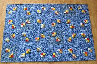 Úžitkový textil - Farebné štvorčeky - ukážka vzoru - 236218