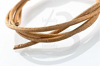 Suroviny - NAT2434, Koža okrúhla Ø2mm SvetloHNEDÁ /1m - 2368264