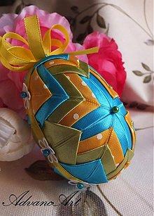Dekorácie - Vajíčko tyrkysové - 2369170