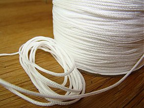 Galantéria - Shambala šnúrka nylonová 1,5mm biela - 2370556
