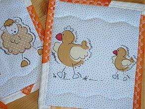 Úžitkový textil - Podložky - sliepočky - 2370762