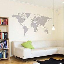 Dekorácie - Mapa sveta nielen pre cestovateľov - samolepiaca dekorácia na stenu - 2371297