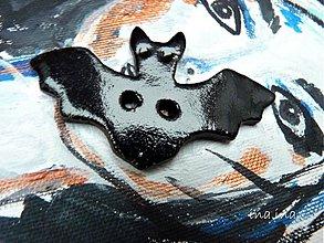 Materiál ručne robený - Gombík netopier - 2376080