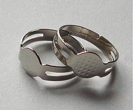 Komponenty - Základ prsteňa - platina III (1 ks) - 2380742