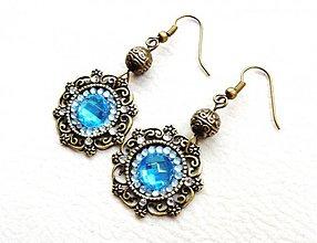 Náušnice - azzurro mare - 2381955