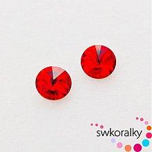 Korálky - RIVOLI 12 mm SWAROVSKI ® ELEMENTS light siam ruby - 2382347