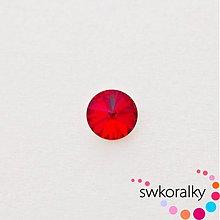 Korálky - RIVOLI 14 mm SWAROVSKI ® ELEMENTS - light siam ruby - 2383555