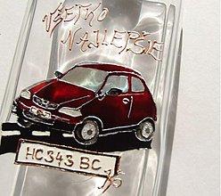 Iné - Maľovaná fľaša Honda Civic - moje prvé auto - 2385237