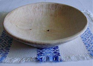 Nádoby - Drevený ľudový tanier - 2387547
