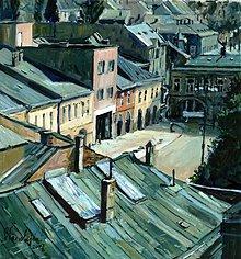 Obrazy - Hometown, Pohľad zo strechy - 2390885