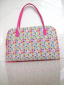 Veľké tašky - Veselá sovičková - kabelka, taška na notebook..... - 2392983