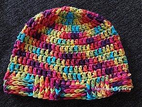 Detské čiapky - Dúhová jarná čiapočka - 2395692