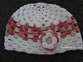 Detské čiapky - Jarno-letná dierovaná čiapočka - 2395723