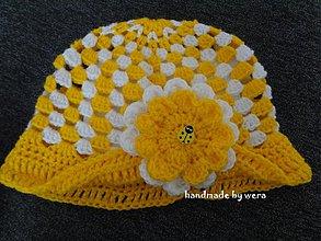 Detské čiapky - Jarno-letný veselý klobúčik s lienočkou - 2395737