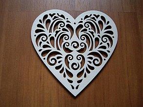 Materiál ručne robený - Srdce - ornament celé - 2396629