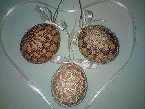 Dekorácie - Vajíčka prírodné - sada - 2396786