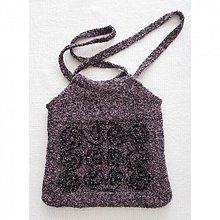 Veľké tašky - Fialovo-čierna taška na plece - 2398353