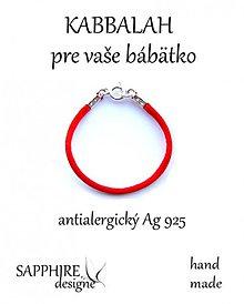 Náramky - kabbalah náramok pre bábätko Ag925 - 2399180