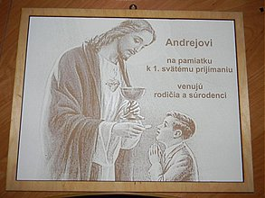 Obrazy - Obraz na pamiatku 1.sväte príjimanie - 2400078