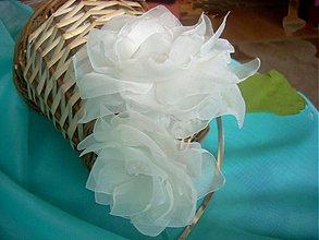 Ozdoby do vlasov - čelenka aj svadobná / ivory / - 2401268