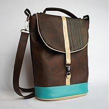 Veľké tašky - Hnedá a tyrkys II. - 2402346