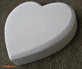 Polotovary - polystyrenové srdce polotovar / 30cm - 2402376