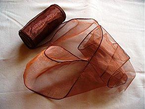 Textil - organza stuha 11cm meď - 240509