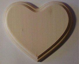 Polotovary - Lipové srdiečka na maľovanie - 2405227