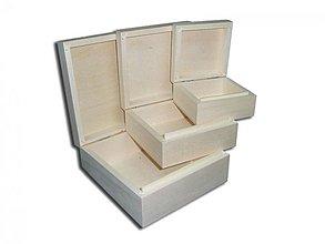 Polotovary - Krabičky 3 ks - 2406126