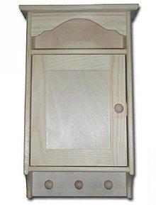 Polotovary - Skrinka na kľúče s vešiačikmi - 2406303