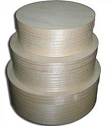Polotovary - Sada 3 okrúhlych krabičiek - 2406490