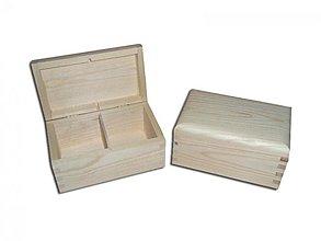 Polotovary - Krabička na čaje 2 priečinky - 2406602