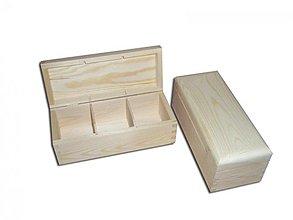 Polotovary - Krabička na čaje 3 priečinky - 2406610